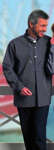 Original Fischerhemd breitgestreift durchgewebt von Modas Gr. 50 (Herren) / 44 (Damen)