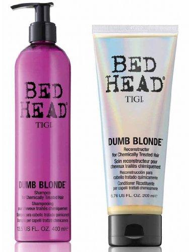 Tigi Bed Head Dumb Blonde Set (Shampoo 400ml + Reconstructor 200ml) -