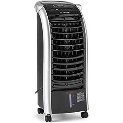 KLARSTEIN Maxfresh BK IceLine - Rafraîchisseur d'air, Humidificateur, Ventilateur, 3 Niveaux de Puissance, 3 Modes de Ventilation, Commande des hélices, Minuterie, Noir