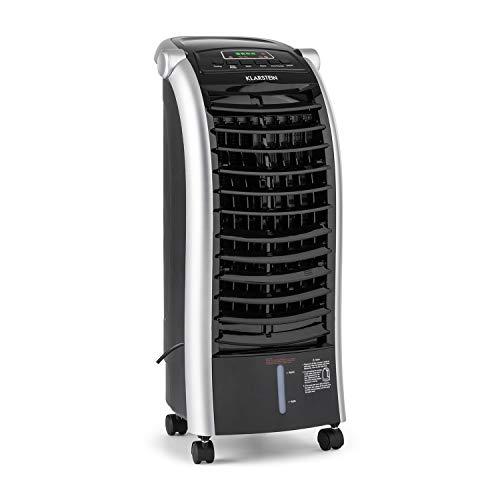Klarstein Maxfresh BK 3-in-1 Klimagerät • Summer Edition • Luftkühler • Luftbefeuchter • 56 W • 3 Ventilationsmodi • Wasserauslaufschutz • einstellbare Lüftungslamellen • Fernbedienung • schwarz 240v-akku-pack
