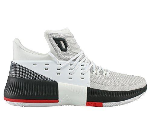 adidas Unisex-Kinder D Lillard 3 J Gymnastikschuhe, Bianco (Ftwbla/Negbas/Escarl), 38 EU Jungen Schuhe Adidas Basketball