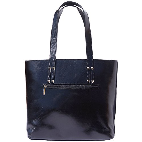 Handtasche und Schultertasche mit Doppelgriff 205 Schwarz