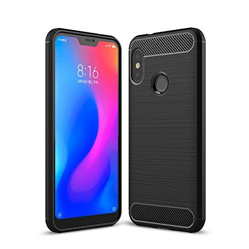 Caso Xiaomi Mi A2 Lite / Pro redmi 6, AVIDET Belkin TPU silicone Proteção macia [Queda, deslizamento, prova de arranhão, resistente ao choque] Case for Xiaomi Mi A2 Lite / redmi 6 Pro (Preto)