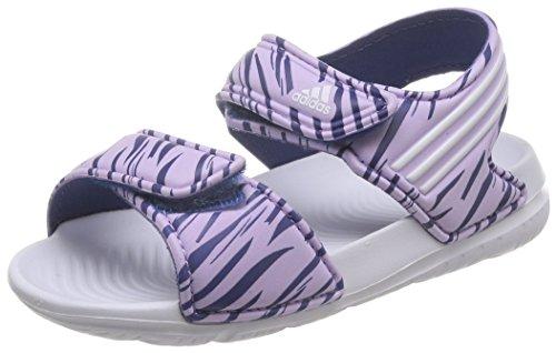 adidas Unisex-Baby Akwah 9 I Lauflernschuhe, Weiß / Violett / Schwarz (Brimor / Ftwbla / Mornat), 27 EU