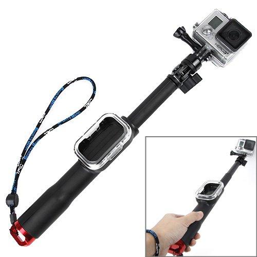 Perche télescopique avec support télécommande spéciale GoPro - longueur 98 Cm réglable