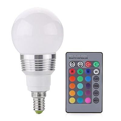 CroLED E14 RGB LED Globus Lampe 3W AC 230V 16 Farbe mit Fernbedienung Lampe Leuchte von winnet DE - Lampenhans.de