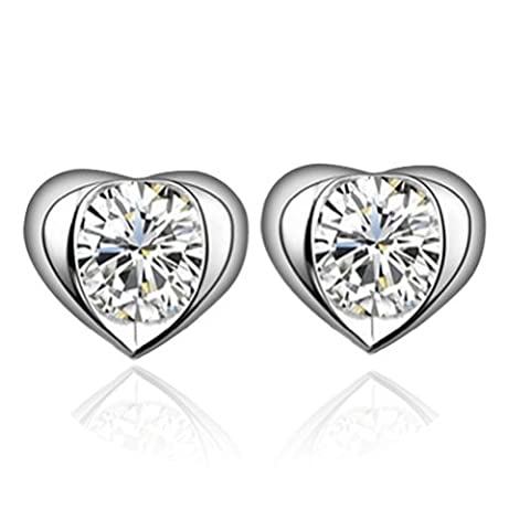 Yoursfs Classy Hollow Out Heart Stud Earrings for Women 18ct White Gold Plated Love CZ Post Earring Fashion Jewellery