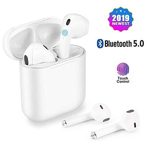 Écouteurs Bluetooth 5.0, Réduction Intelligente du Bruit, Écran contextuel Automatique, Surround 3D stéréo, Casque binaural pour Apple Airpods Android/iPhone/Samsung/Huawei
