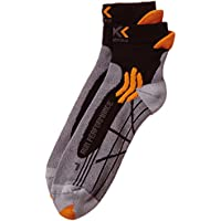 X-SOCKS - Run Performance - Calcetines para hombre, Multicolor (Gris/Orange/Noir), 39-41