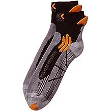 X-SOCKS - Run Performance - Calcetines para hombre, Multicolor (Gris/Orange