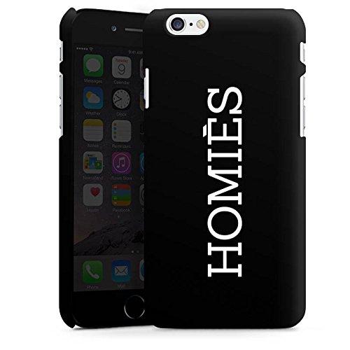 Apple iPhone X Silikon Hülle Case Schutzhülle Homies Schwarz-Weiß Statement Premium Case matt