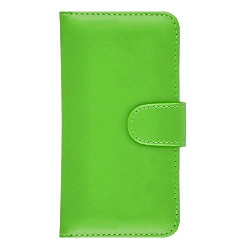 GizzmoHeaven iPhone 7 Plus Étui en cuir porte-carte housse coque case cover pour Apple iPhone 7 Plus avec protecteur d'écran et stylet - Gris Vert