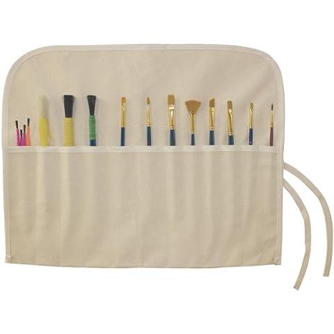 Corp tela Canvas Artist Brush, 18 cm x 14 cm, colore: naturale, altri, multicolore