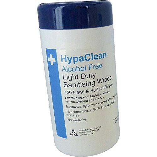 HypaClean de poca potencia Desinfección/Mano y superficiales Wipes - Tambor de 150