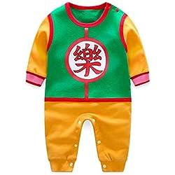 EHMOG Body de Manga Corta Verano Bebé Recién Nacido Niños Niñas Mameluco Trajes Ropa Mono Niño Dragon Ball Cosplay Disfraz Pijama Blanco 0-24 Meses Regalo Unisexo Camiseta 2019