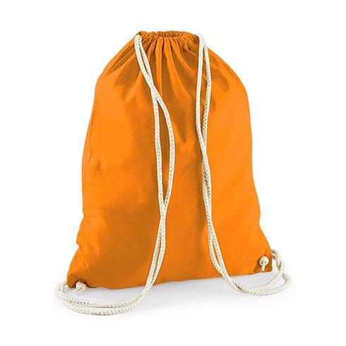 Jutebeutel Turnbeutel Sportbeutel Stofftasche Baumwolltasche Tasche Rucksack mit Kordel Gymsack Unicorn Caticorn Kittykat Cat Kitty Katze (Schwarz) Orange