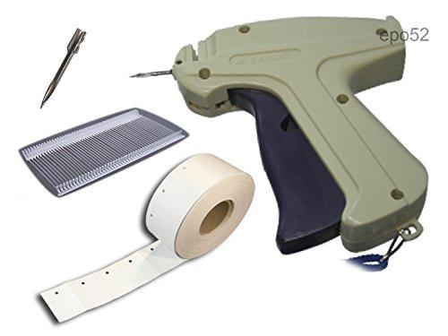 SET Heftpistole - Etikettierpistole ARROW 9S + 5 Ersatznadeln + 1.000 Heftfäden Standard 40mm + 1.000 Kartonetiketten Etiketten 30x45 mm von epo52