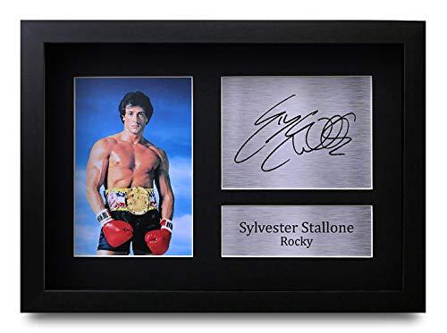 HWC Trading Sylvester Stallone (GERAHMTES) Geschenke Unterzeichneten A4 Gedrucktes Autogramm Rocky Druck-Foto-Bilderanzeige -