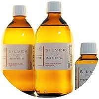 Preisvergleich für PureSilverH2O 1100ml kolloidales Silber (2X 500ml/10ppm) + Flasche (100ml/10ppm) Reinheit & Qualität seit 2012