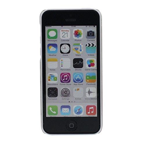 Poids Léger Clair Coque pour Apple iPhone 5C, écoulement Étoiles colorées Liquide Eau Style Transparente Dur iPhone 5C Case Original Intéressant Motif - Papillon pourpre Color-1