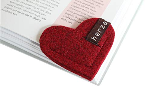 Filz-Lesezeichen Herz - 2