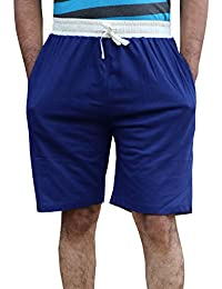 ELK Mens's Blue Cotton Shorts Trouser Clothing Set