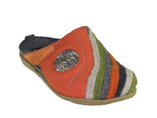Haflinger Schuhe Damen Herren Hausschuhe Pantoffeln Wolle Blizzard Arte 738013 ((04) anthrazit)