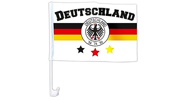 Alsino Länder Auto Fahne Autoflagge Autofahne Fahne Auto Länderflagge Auto Fenster Flagge Afl 16 Deutschland Weiß Bekleidung