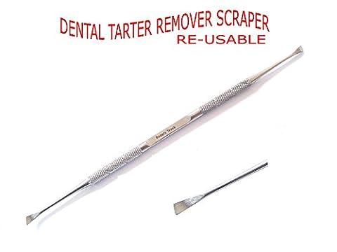 BeautyTrack® Tartar remover -Teeth whitening - Teeth Cleaner, Dental Scaler - Plaque Scraper - Dental tools - Professional Dental Tartar Calculus Plaque Remover - Tooth Scraper - Stainless Steel - Remover tools