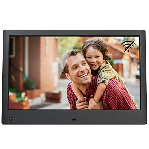 NIX Advance 13 Zoll Full HD - Der einzige Digitaler Bilderrahmen, der Fotos und Videos in Einer Diashow reibungslos darstellen kann