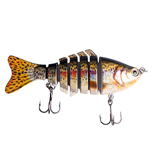 Andux Fly Ganci esche Bionic Bait Hook Fly Fishing Lure Hook artificiale realistica esca dura F-FSE-01 (Il colore è casuale)