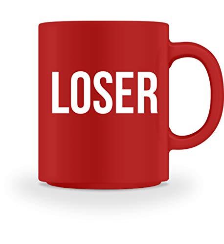 PlimPlom Loser Kaffeetasse - Verarsche Für Freunde Oder Spaßgeschenk - Tasse -M-Rot