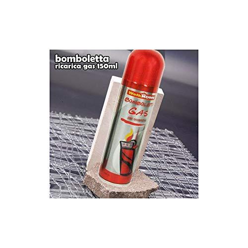 TrAdE Shop Traesio - BOMBOLETTA Ricarica Gas Universale per ACCENDINI 150 ML