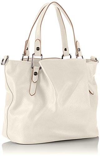 Gabor MARISA 7357 Damen Henkeltaschen 34x26x18 cm (B x H x T) Weiß (offwhite Handtasche)