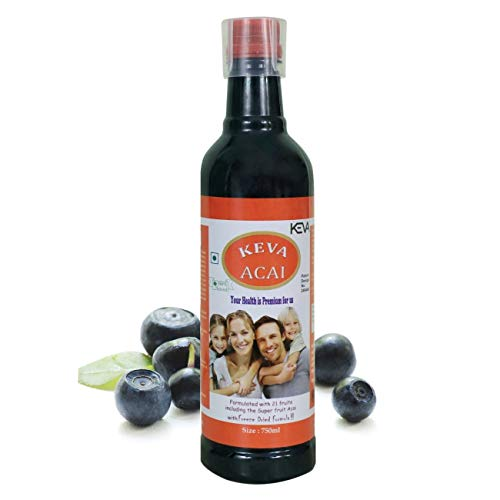 Keva-Industries Acai Berry Juice Cleanses, Weight Loss, Antioxidant, Energy and Immunity Booster, Ayurvedic Health Supplement for Men and Women (750 ml)
