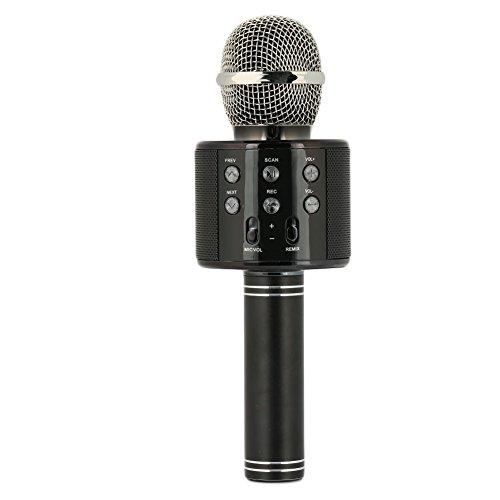 Preisvergleich Produktbild Cewaal WS-858 Wireless-Mikrofon Karaoke mit Lautsprecher Pro,  tragbare Bluetooth KTV Karaoke für iPhone iPad Android Smartphone PC,  Kinder Geschenk (schwarz)