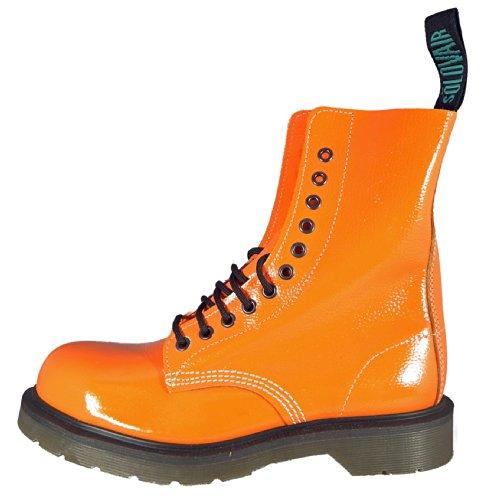 Solovair (Angleterre) 11 œillets Boots. en cuir avec coque en acier pour homme Fabriqué en Angleterre. Orange - Orange
