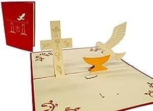 Lin17128 Pop Carte De Communion Confirmation Bapteme Carte De