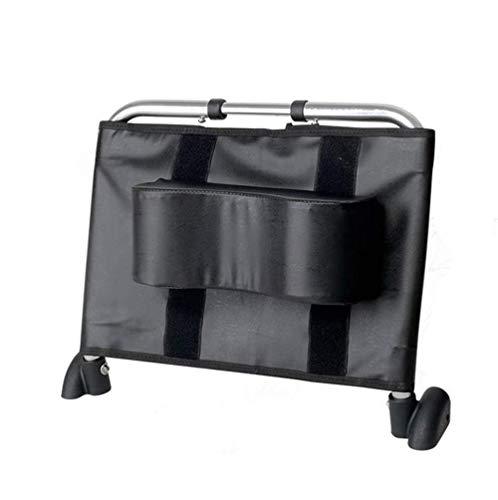 AA-SS- Neck Support Rollstuhl Kopfstütze Nackenstütze Kopfpolster Höhen- und winkelverstellbar & tragbar für Erwachsene Reiserollstuhl (Sitzbreite 45Cm-52Cm) Zubehör, Schwarz (Hohe Rollstuhl)