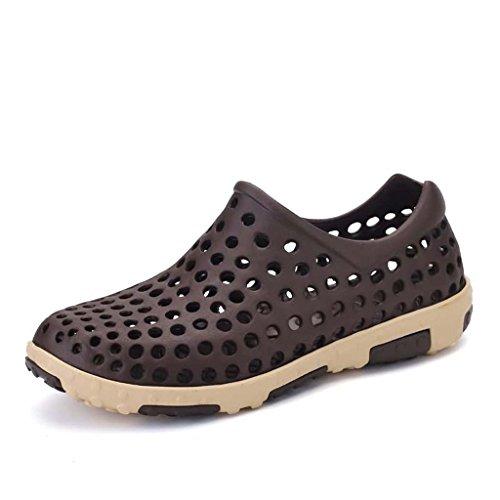 Zxcv Chaussures De Plein Air Trou Chaussures Hommes Sandales De Plage En Plein Air Wading Hommes Séchage Rapide Souliers Marron