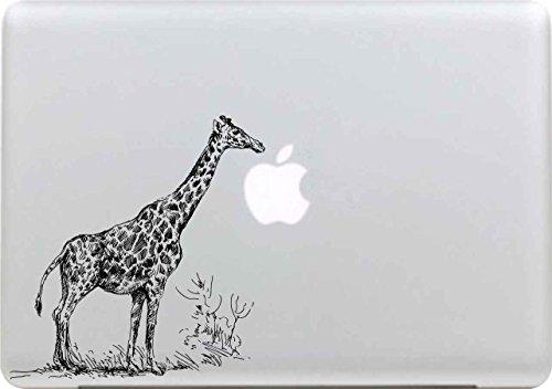 Macbook Sticker , Stillshine Removable Schwarz Kreativ Macbook Sticker Aufkleber Skin Laptop Vinyl Decal Sticker Abziehbild Abziehbilder (Giraffe) (Giraffe Macbook Decal)
