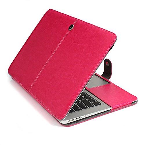 HASESS 3 IN 1 Designed Macbook Air 11 Zoll Premium Qualität Geschäft PU-Leder Abdeckung Clip On Convenient Magnetisch Snap Schutzabdeckung Abdeckung Folding Schale für Apple Macbook Air 11.6