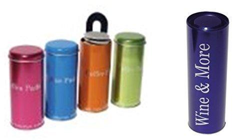 Kaffee Pad Behälter 4-er Set Neon Pink/Grün/Orange/Blau (Blau)