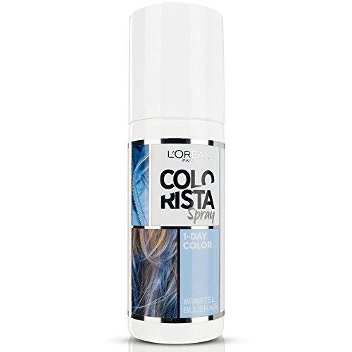 L'oréal paris colorista spray 1-day color colorazione temporanea un giorno, blu pastello (pastel blue)