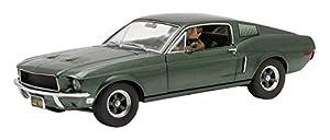 Greenlight 783 12938 Escala 1:18 1968 Ford Mustang GT Fastback Bullitt Nuevo Modelo de Coche Fundido a Troquel con Steve Mcqueen Figura.
