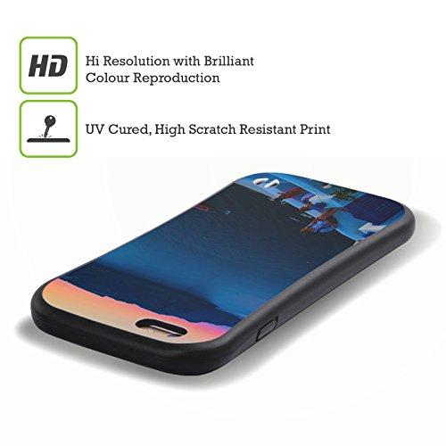 Ufficiale Haroulita Oia Santorini Tramonto Case Ibrida per Apple iPhone 6 Plus / 6s Plus Terrazzo