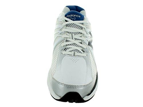 New Balance Men's 847v2 White/Navy Training Shoe 8 Men US White/navy