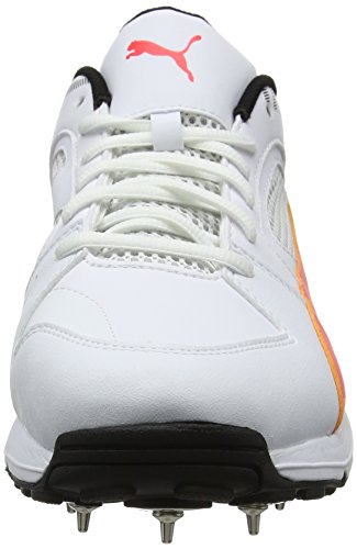 Puma Team Full Spike, Scarpe da Cricket Uomo Bianco (White-fiery Coral-black)