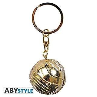 ABYstyle Harry Potter Schlüsselanhänger 3D-Golden Snitch, ABYKEY191