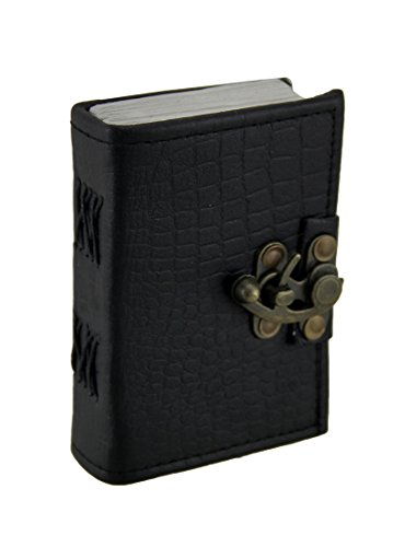 Black Python geprägtes Leder Journal 8,9x 12,7cm. (Leder Python-geprägte)